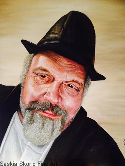 Dave portrait acrylic on canvas by Saskia Skoric