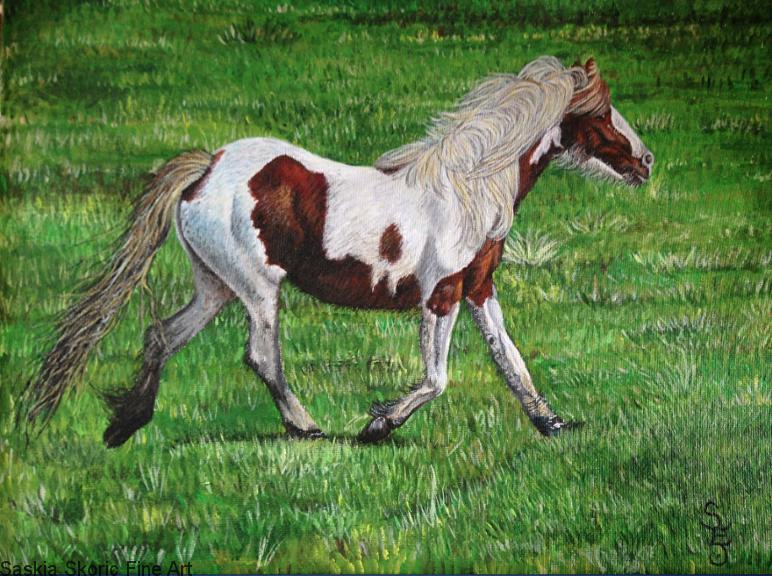 Horse painting acrylic painting by Saskia Skoric realism